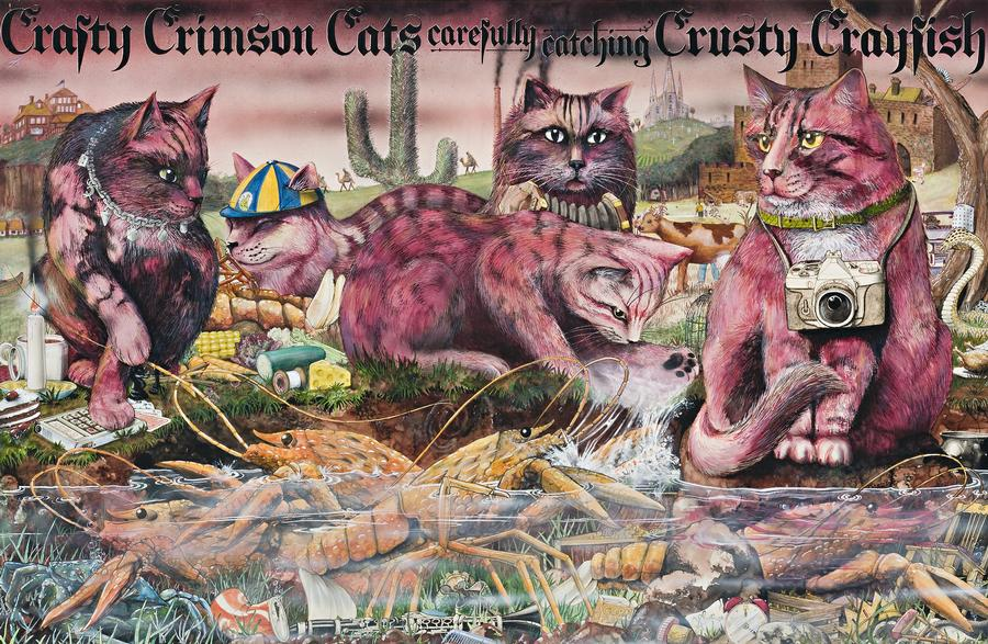 Crafty Crimson Cats from Graeme Base's Animalia