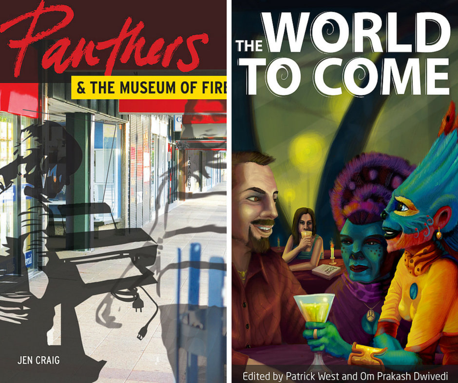 Cover images for Panthers and the Museum of Fire and The World to Come