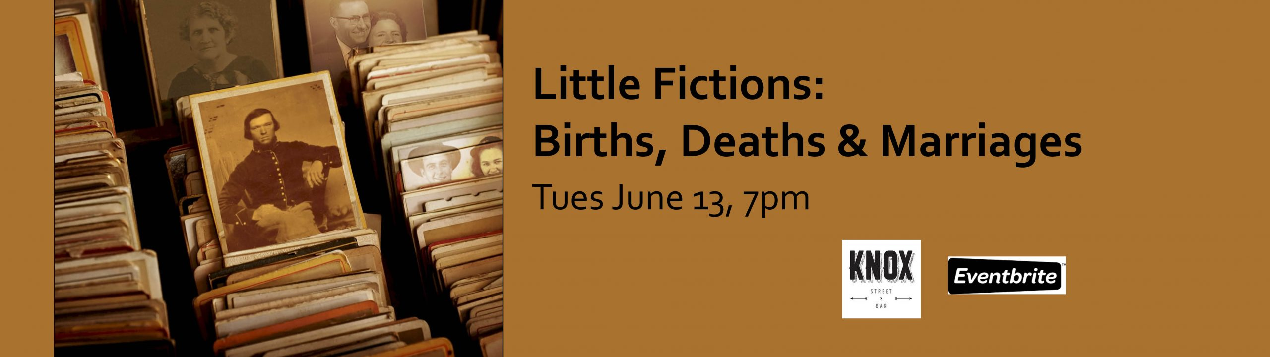 LITTLE FICTIONS: Births, Deaths and Marriages
