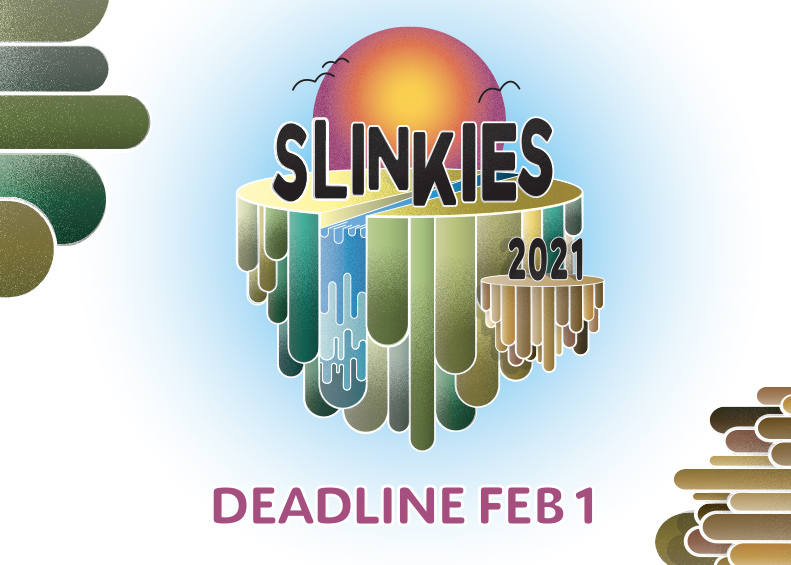Image: Slinkies 2021 submissions, Writers under 30. Australian short stories.